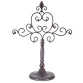 Scroll Metal Jewelry Stand